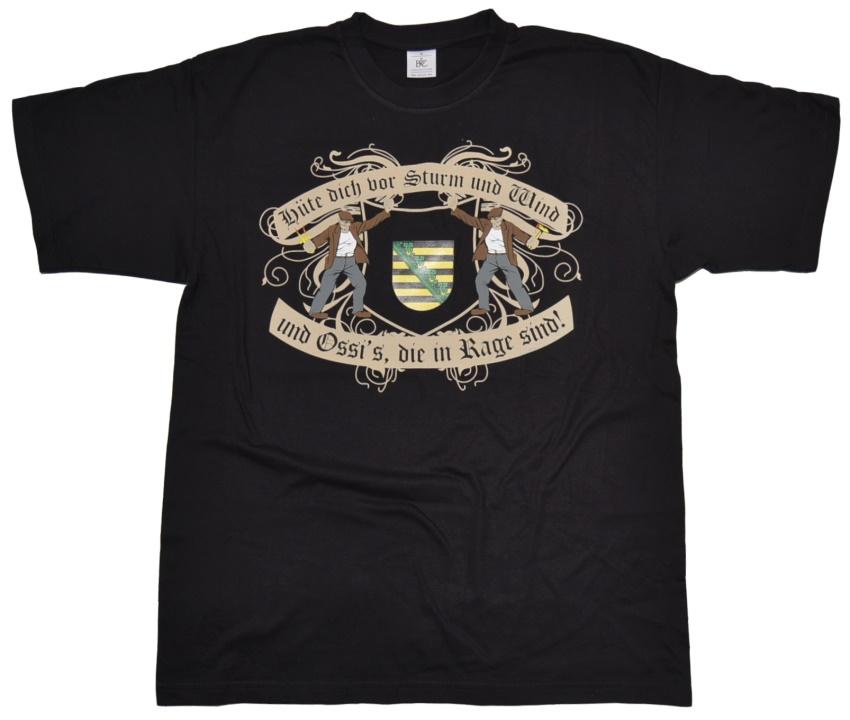 T-Shirt Ossis in Rage Sachsen
