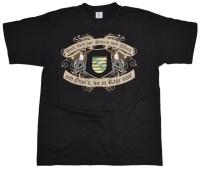 T-Shirt Hüte Dich vor Sturm und Wind und Ossis die in Rage mit Sachsen Wappen
