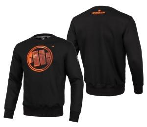 Pit Bull West Coast Crewneck Sweatshirt Orange Dog