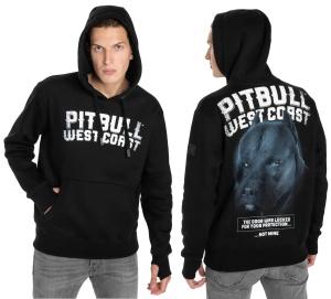 Pit Bull West Coast Kapuzensweat Black Dog