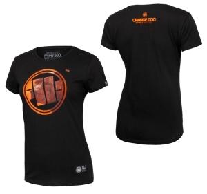 Pit Bull West Coast Damen T-Shirt Orange Dog