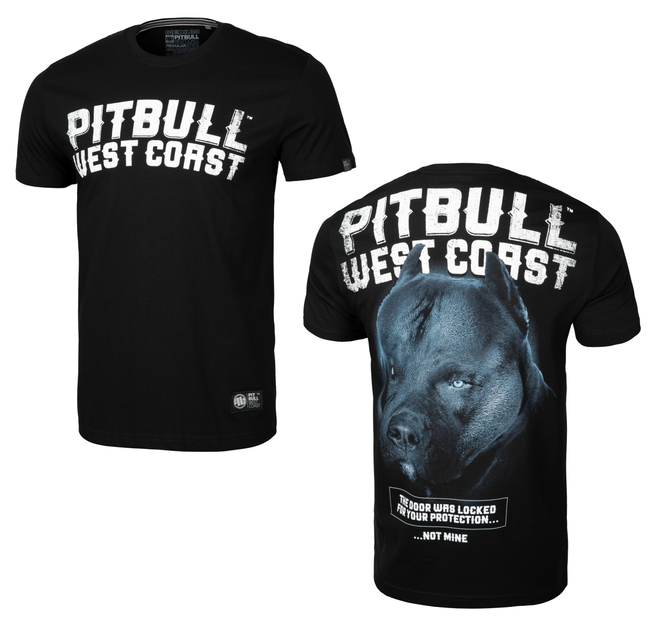 Pit Bull West Coast T-Shirt Black Dog Middle Weight