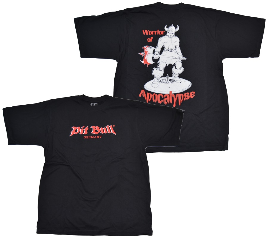 Pit Bull T-Shirt Warrior of Apocalypse