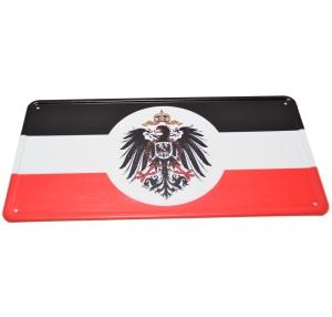 Aluminium Blechschild Deutsches Kaiserreich