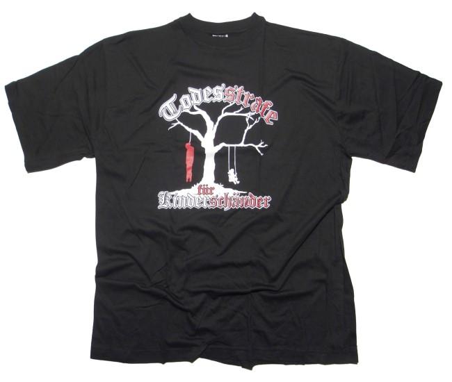 T-Shirt Todesstrafe f�r Kindersch�nder