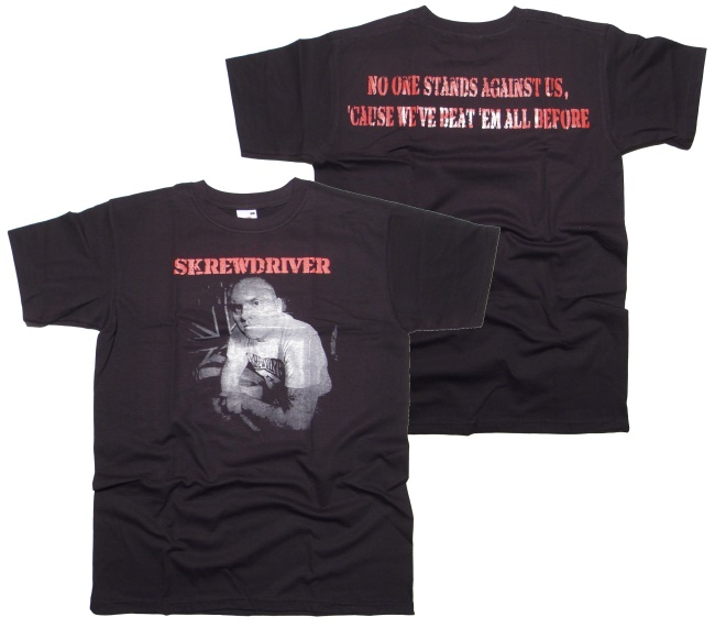 T-Shirt Skrewdriver No one Stands Against...