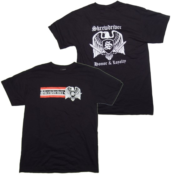 T-Shirt Skrewdriver Honor & Loyalty