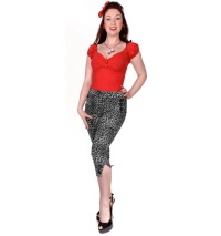 Caprihose Leopard Rockabilly Collectif