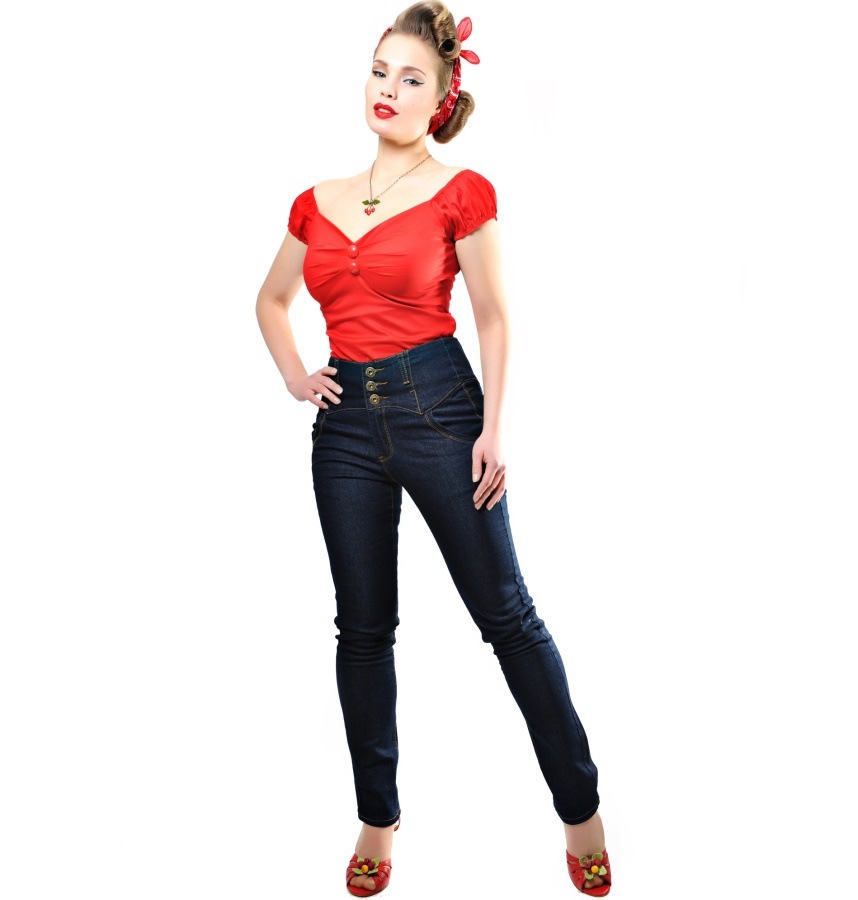 Damenjeans Rebel Kate 50 60iger Jahre Collectif Collectif Hosen