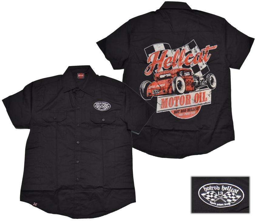 Hot Rod Hellcat Workerhemd Motor Oil