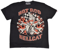 Hot Rod Hellcat T-Shirt Pin Up Wheel