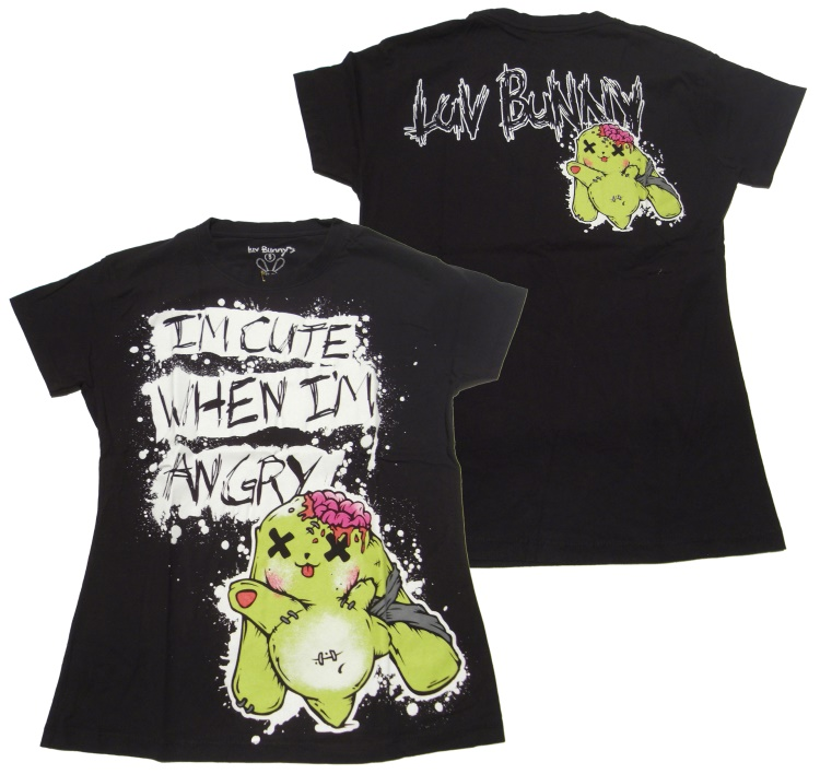 Girl Shirt Comic Evil Clothing Luv Bunny