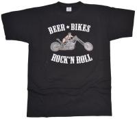 T-Shirt Beer Bikes & RocknRoll