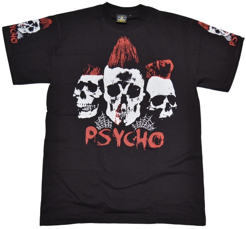 T-Shirt Psycho 3 Skulls