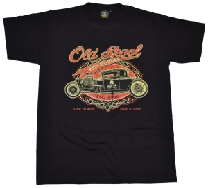 T-Shirt Old Skool Hotrod Motiv
