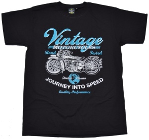 T-Shirt Vintage Motorcycles  american old school bike style