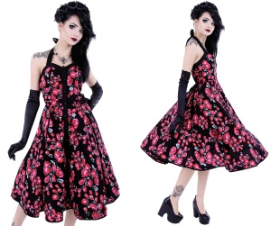 Rockn Roll Kleid Roses bis Plussize