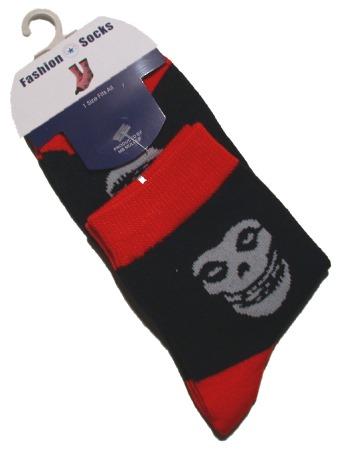 Socken Totenkopf grau