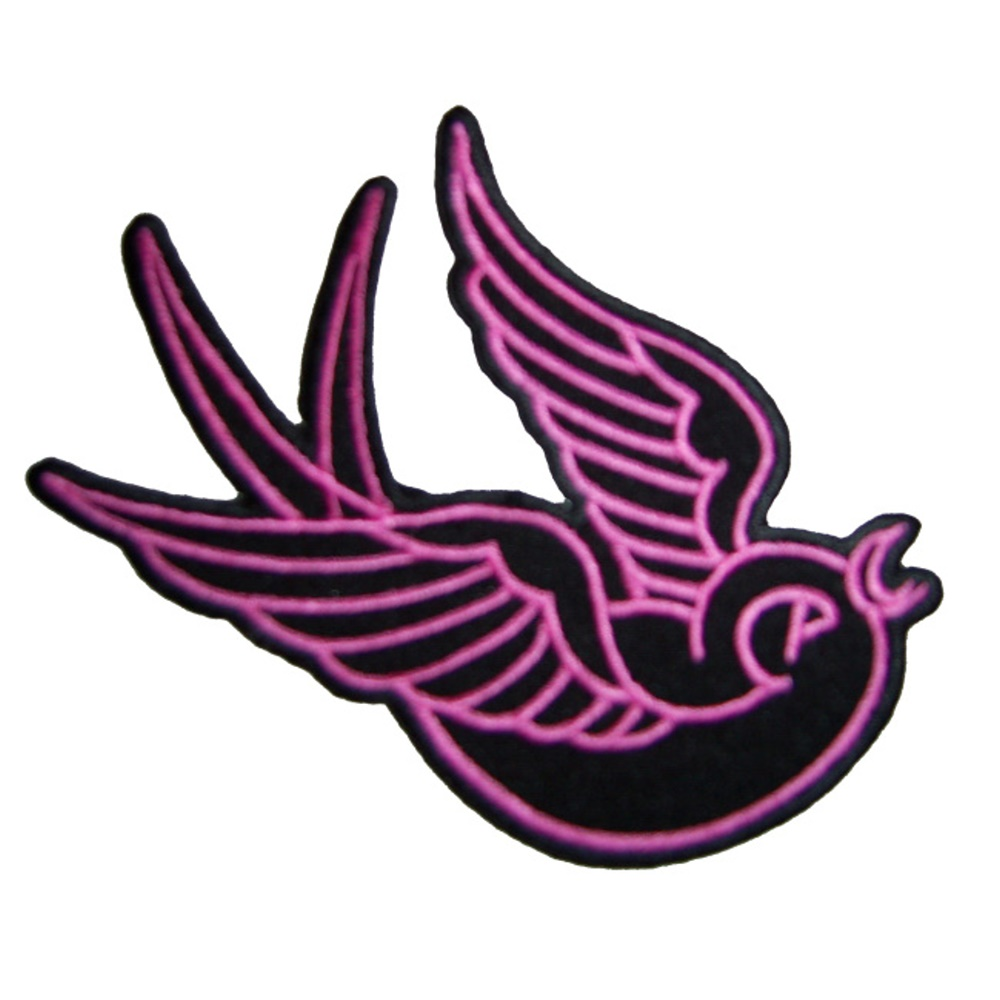 Aufnäher Schwalbe pink