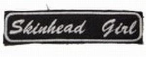 Aufnäher Skinhead Girl