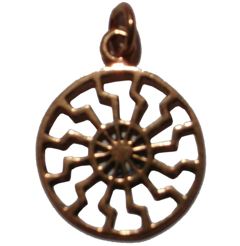 Anh�nger Schwarze Sonne Bronze BR179