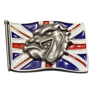 Gürtelschnalle England/Union Jack Bulldog