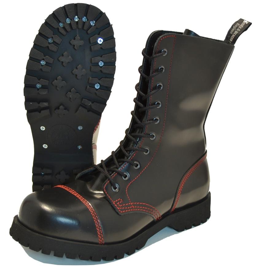 Boots & Braces 10-Loch rote Naht