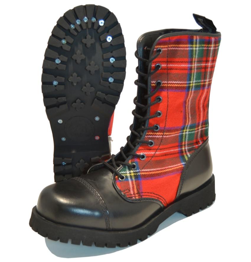 Boots & Braces 10-Loch Tartanmuster