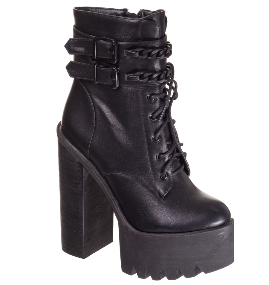 Platform Strappy Boot Alternative Wear