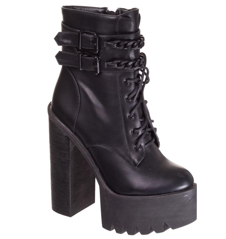 Platform Strappy Boot Alternative Wear