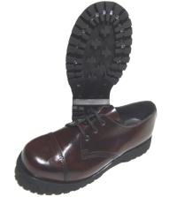 Boots & Braces 3-Loch Schuh mit Stahlkappe in bordo