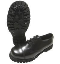 Boots & Braces 3 Loch Schuh mit Stahlkappe in schwarz 4048058015047