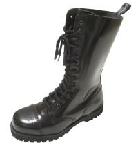 Boots & Braces 14 Loch Stahlkappenstiefel mit Rangersohle für Punks Skins und Gothic Fans
