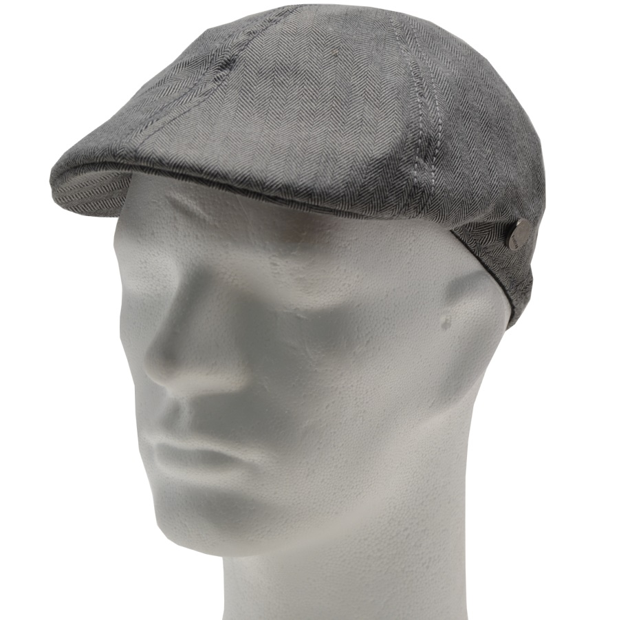 Firetrap Gatsby Hat Grey Stripe