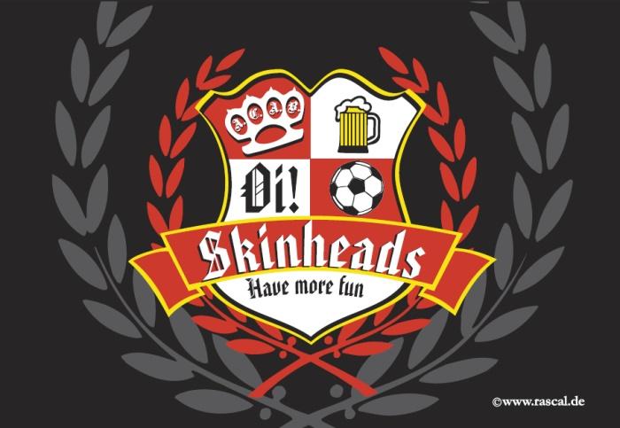 Aufkleber Skinheads have more fun 10er Pack