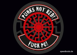 Aufkleber Punks not red