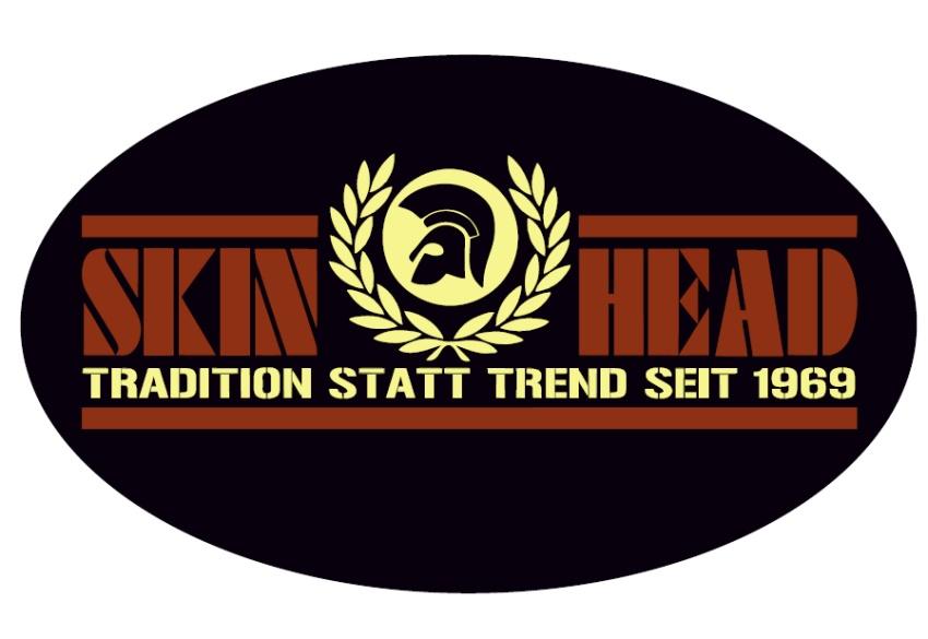 Aufkleber Skinhead Tradition statt Trend