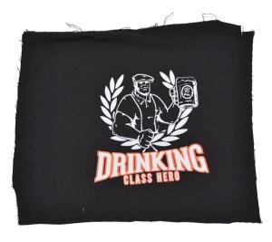 Aufnäher Drinking Class Hero K7