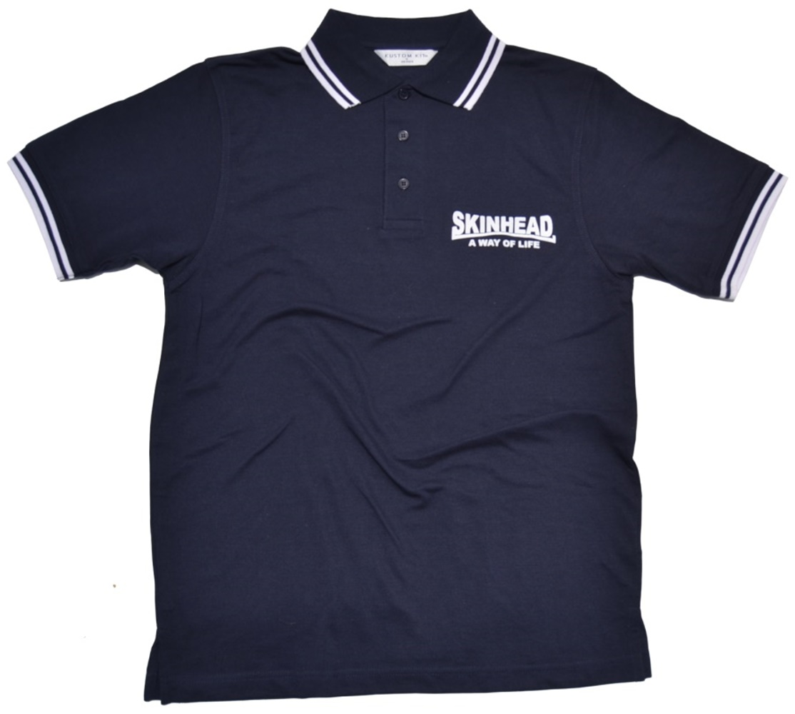 Polo Shirt Skinhead a Way of Life - fette Schrift