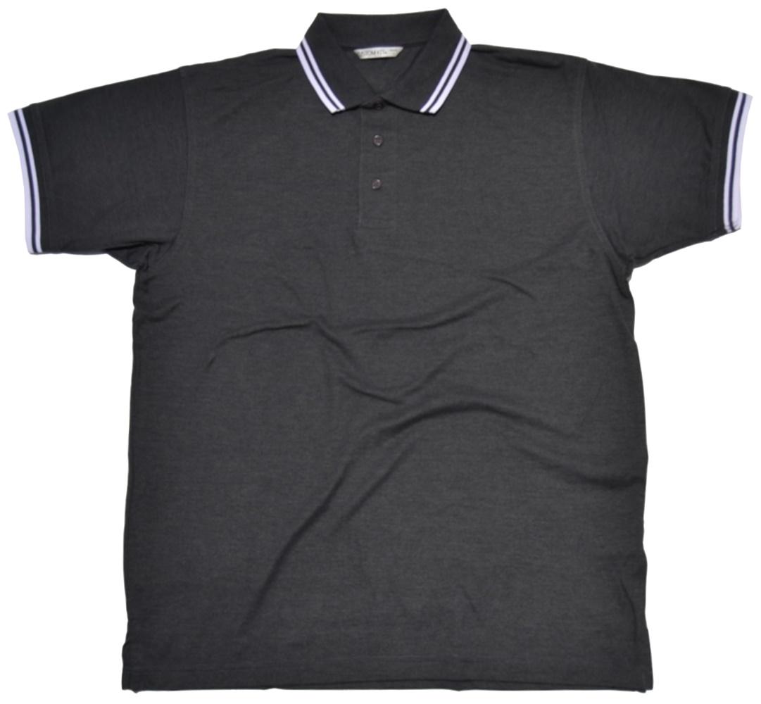 Poloshirt mit weißen Kontraststreifen