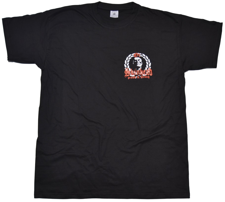 T-Shirt Oi Skinhead proud & strong kleines Logo