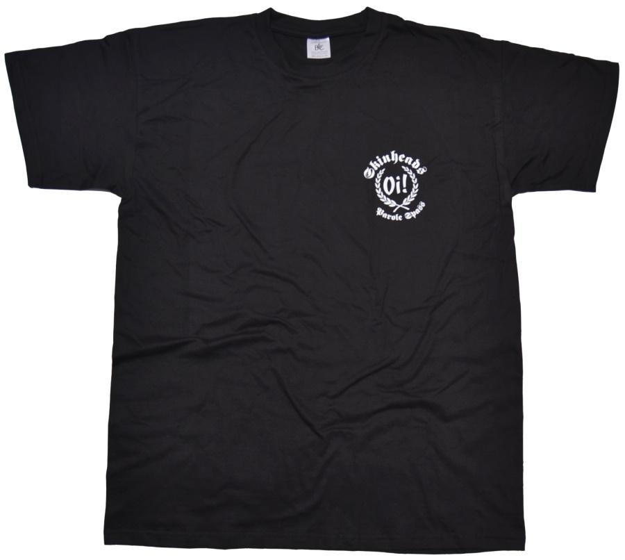 T-Shirt Skinheads Oi! Parole Spass kleines Logo
