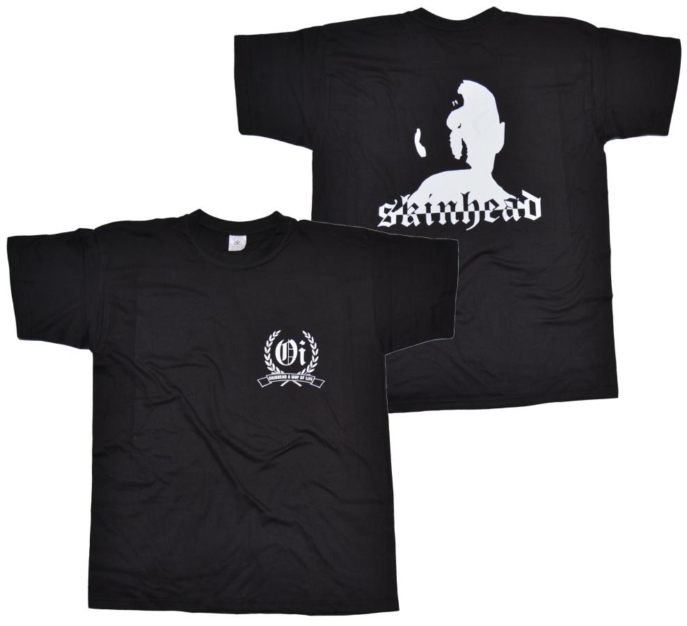 T-Shirt Skinhead a Way of Life Kopf groß