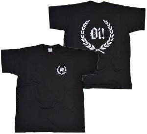 T-Shirt Kranz Oi! vorn klein hinten groß K14 G503