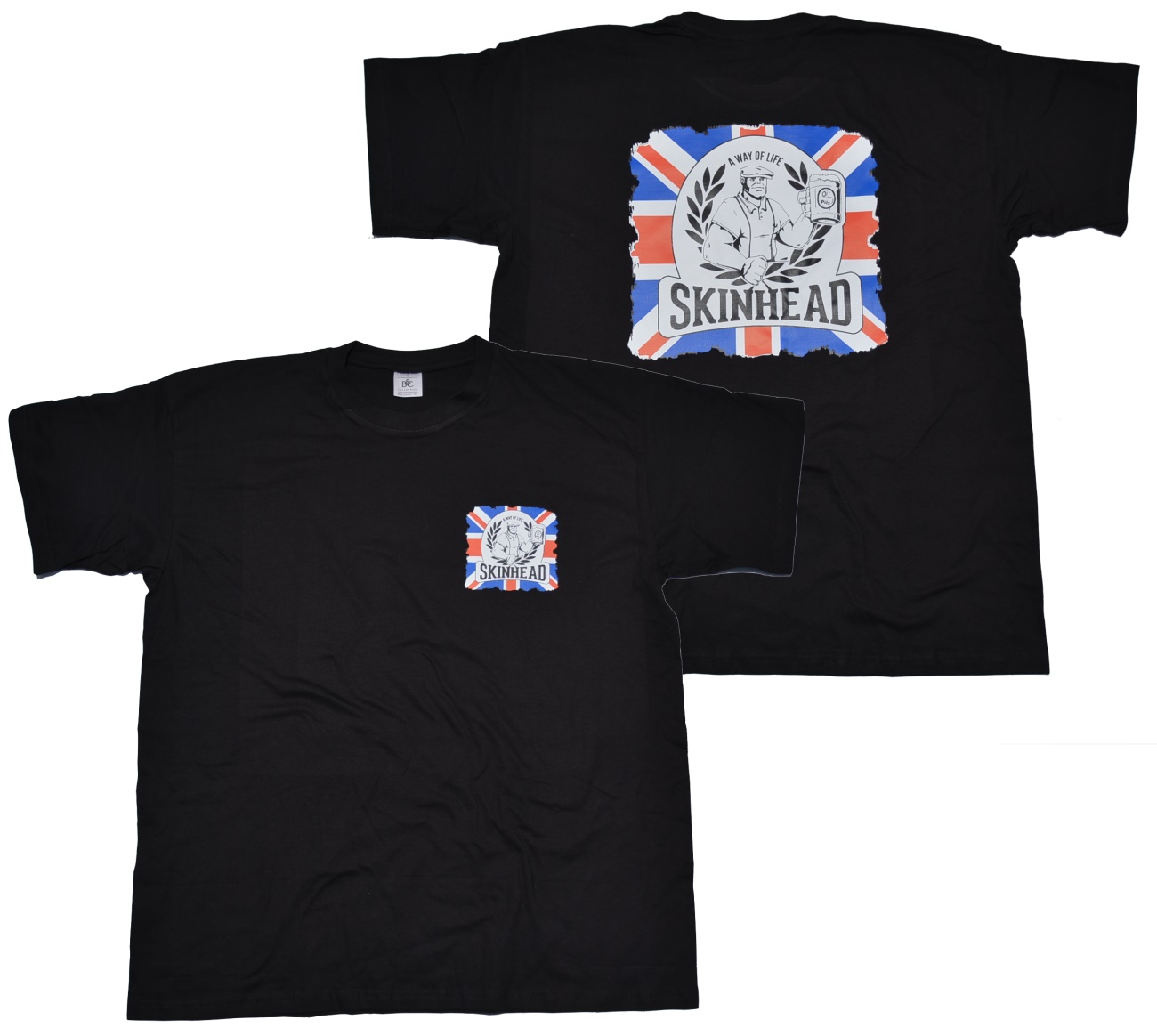 T shirt skinhead a way of life union jack g514 k34 for Kleiner schrank weiay