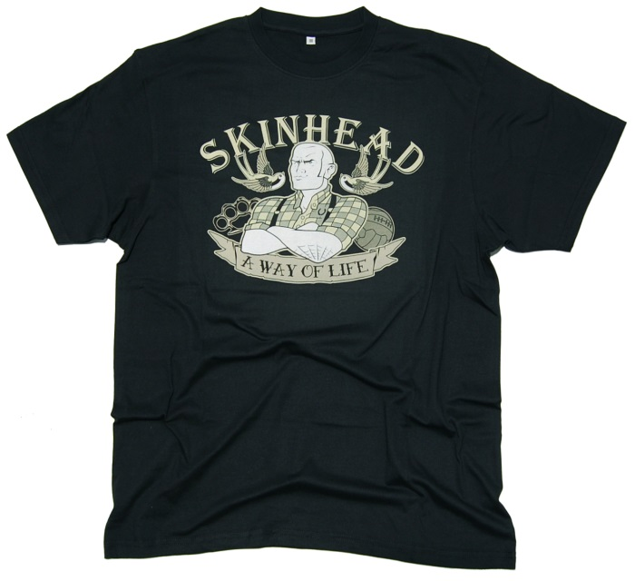 T-Shirt Skinhead Tattoo