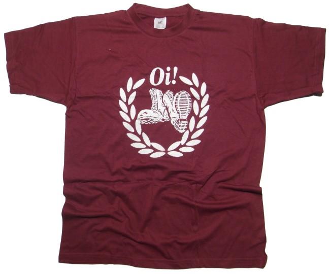 T-Shirt Stiefel Kranz Oi
