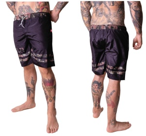 Boxing Connection/Label 23 Badeshorts Striped camo