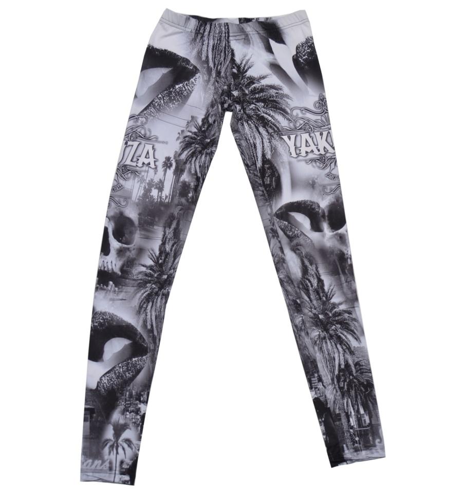 Yakuza Damen Leggings Palm Trees