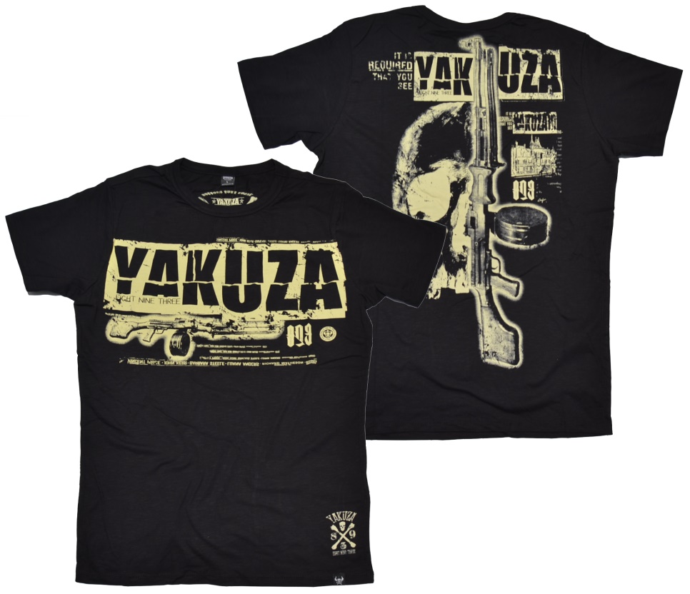 Yakuza T-Shirt Skull & Rifle